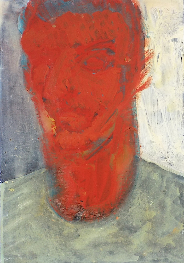 Jan Ziegler_hiding red_2016, acrylic on foamboard_50 x 35 cm